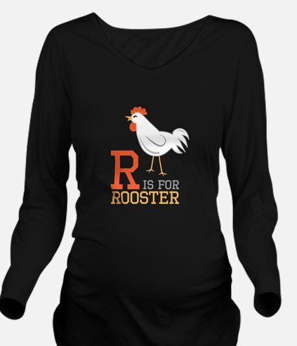ris for roosted Long Sleeve Maternity T-Shirt
