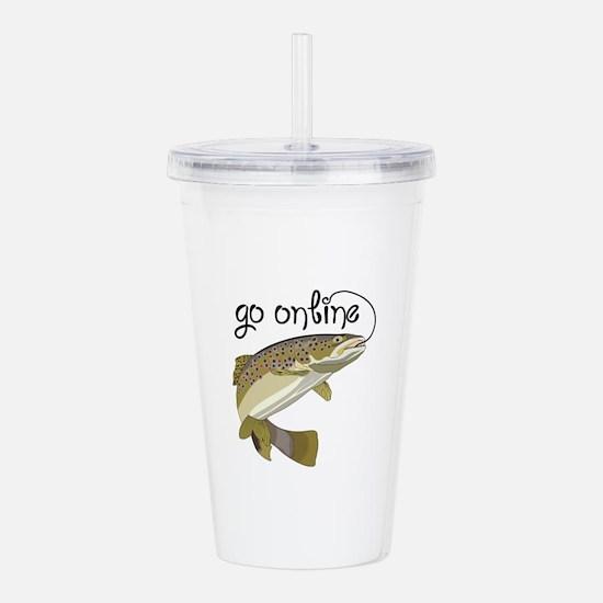 GO ONLINE FISHING Acrylic Double-wall Tumbler