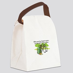 WHEN MY LEGS MOVE Canvas Lunch Bag