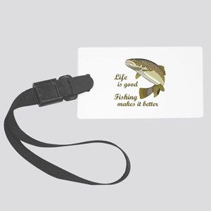 FISHING IS BETTER Luggage Tag