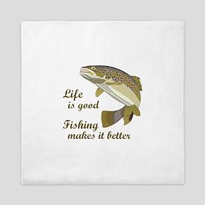 FISHING IS BETTER Queen Duvet