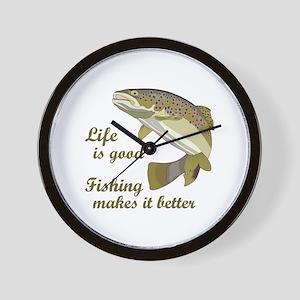 FISHING IS BETTER Wall Clock