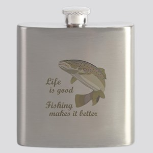 FISHING IS BETTER Flask
