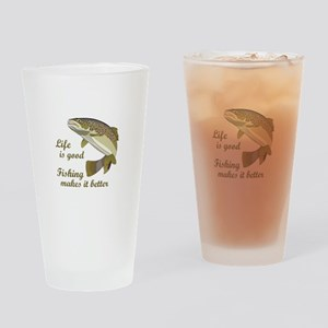 FISHING IS BETTER Drinking Glass
