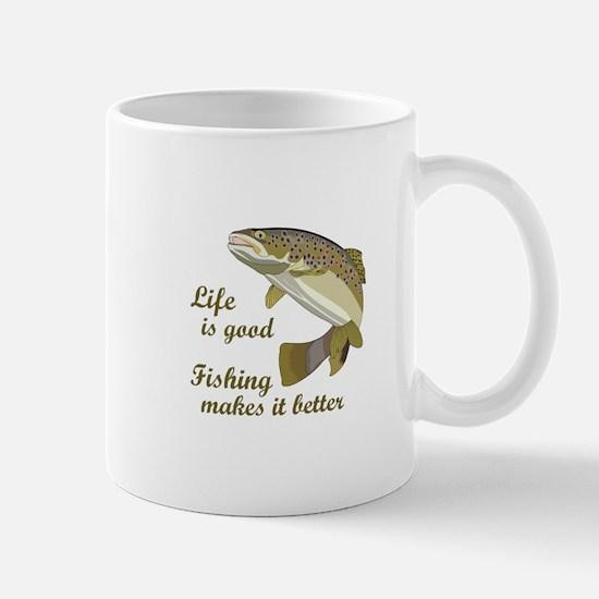 FISHING IS BETTER Mugs