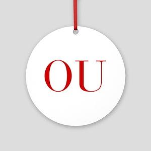 OU-bod red2 Ornament (Round)
