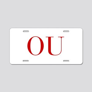 OU-bod red2 Aluminum License Plate