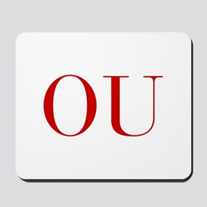 OU-bod red2 Mousepad