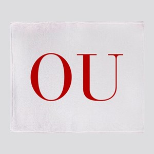 OU-bod red2 Throw Blanket