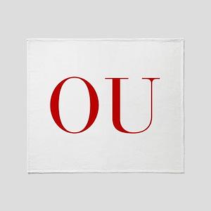 OU-bod red2 Throw Blanket