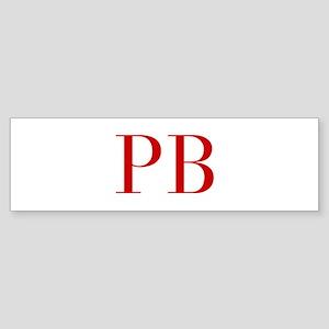 PB-bod red2 Bumper Sticker