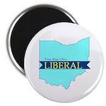"2.25"" Magnet (10 pack) True Blue Ohio LIBERAL"