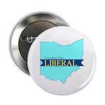"2.25"" Button (10 pack) True Blue Ohio LIBERAL"