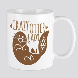Crazy Otter Lady Mugs