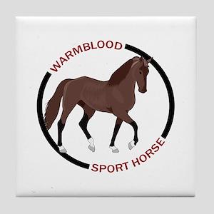 WARMBLOOD SPORT HORSE Tile Coaster
