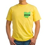 Yellow T-Shirt for a True Blue Ohio LIBERAL