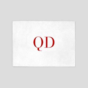 QD-bod red2 5'x7'Area Rug
