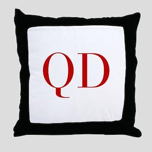 QD-bod red2 Throw Pillow