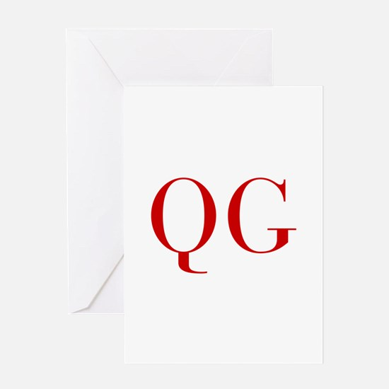 QG-bod red2 Greeting Cards