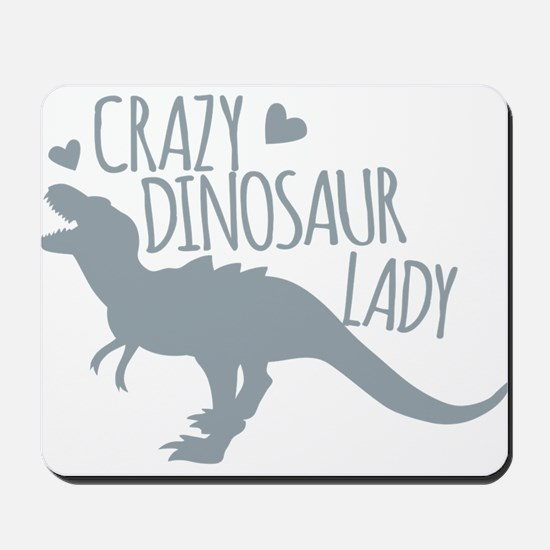 Crazy Dinosaur Lady Mousepad