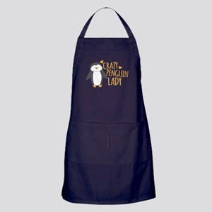 Crazy Penguin Lady Apron (dark)