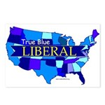 True Blue USA LIBERAL Postcards (Package of 8)