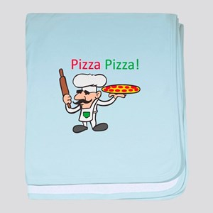 PIZZA PIZZA baby blanket
