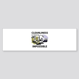 CLEANLINESS IS Bumper Sticker