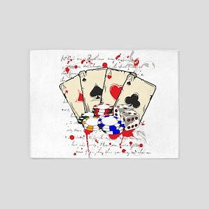 game casino 5'x7'Area Rug