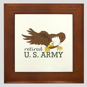 RETIRED US ARMY Framed Tile