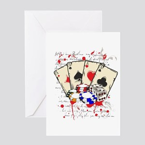 game casino Greeting Cards