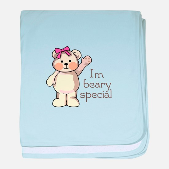 IM BEARY SPECIAL baby blanket