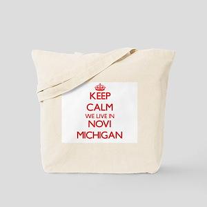 Keep calm we live in Novi Michigan Tote Bag
