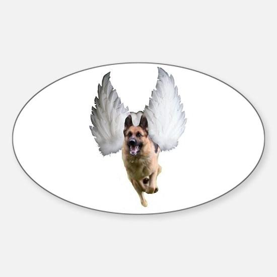 German Shepherd Angel Decal