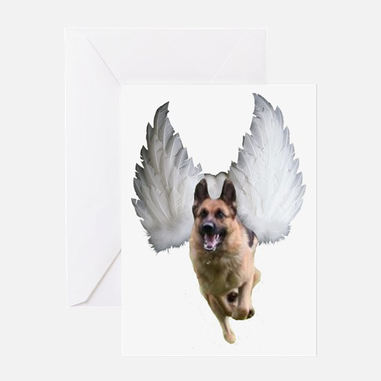 German Shepherd Angel Greeting Cards