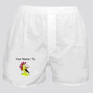 Custom Crazy Chicken Boxer Shorts