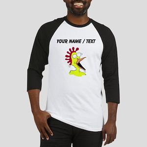 Custom Crazy Chicken Baseball Jersey
