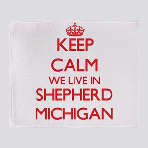 Keep calm we live in Shepherd Michig Throw Blanket