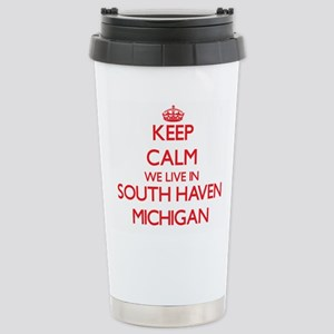 Keep calm we live in So Stainless Steel Travel Mug