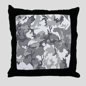Urban Camouflage Throw Pillow
