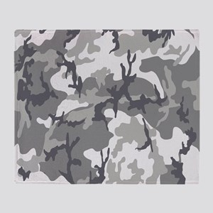 Urban Camouflage Throw Blanket