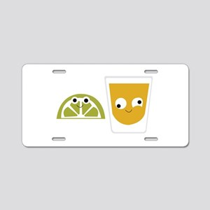 Tequila Shots Aluminum License Plate