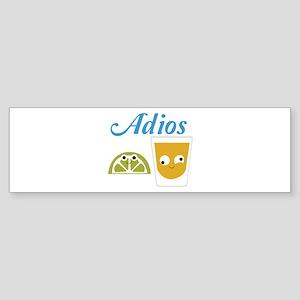 Tequila Adios Bumper Sticker
