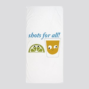 Tequila Shots for All Beach Towel