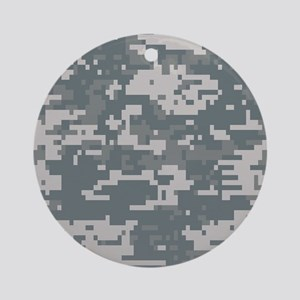 Digital Camouflage Ornament (Round)