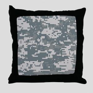 Digital Camouflage Throw Pillow