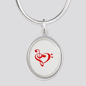 TREBLE MUSIC HEART Necklaces