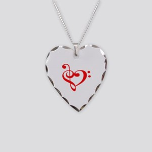 TREBLE MUSIC HEART Necklace