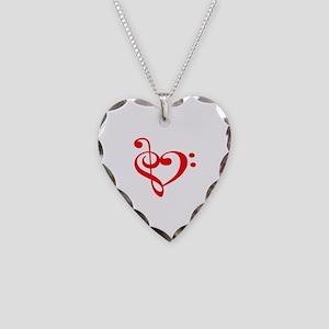 TREBLE MUSIC HEART Necklace
