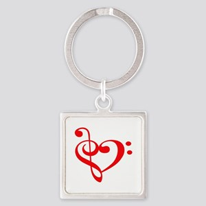 TREBLE MUSIC HEART Keychains